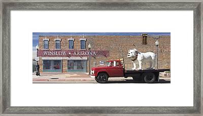 Winslow Arizona Framed Print