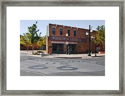 Winslow Arizona - Such A Fine Sight To See Framed Print