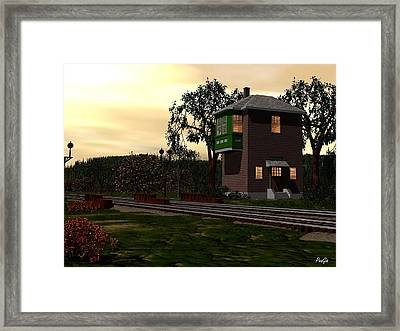 Winslow Junction Framed Print by John Pangia