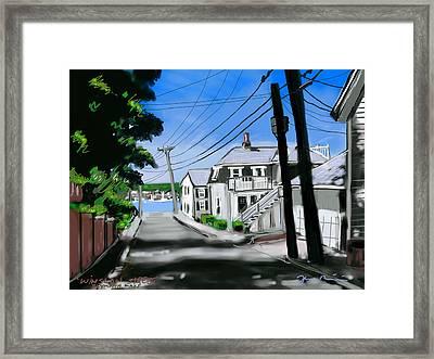 Winslow Street Framed Print