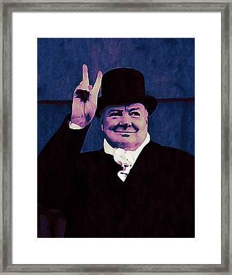 Winston Churchill Framed Print by Bill Cannon