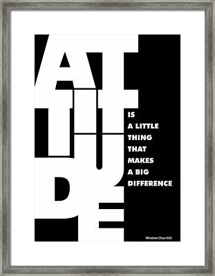 Winston Churchill Inspirational Typographic Quotes Poster Framed Print