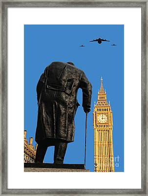Winston Churchill Framed Print by Jasna Buncic