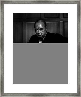 Winston Churchill Framed Print by Doc Braham