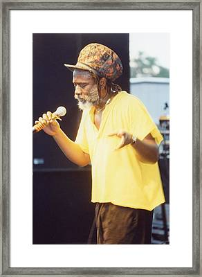 Winston Rodney Burning Spear Framed Print