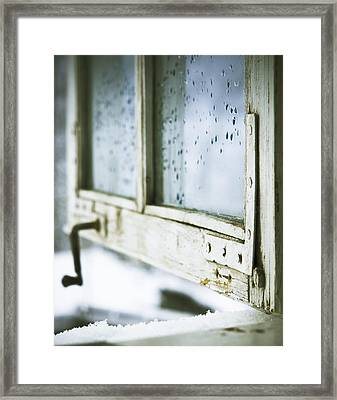 Wintage Wooden Window Closeup Framed Print
