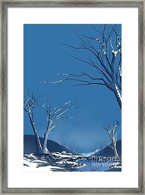 Winter Abstract Framed Print by Bedros Awak