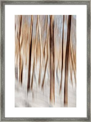 Winter Abstract Framed Print by Bill Wakeley