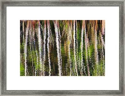 Winter Abstract Framed Print by Carolyn Marshall