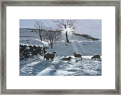 Winter Afternoon At Dentdale Framed Print