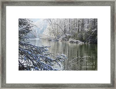 Winter Along Williams River Framed Print by Thomas R Fletcher