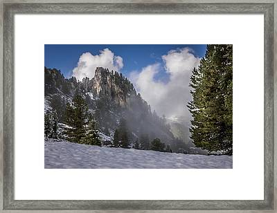 Penken Tyrol Alps Winter Landscape Photography Framed Print by Alex Saunders