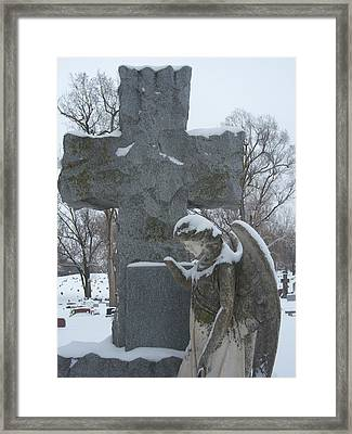 Winter Angel Framed Print by Cindy Fleener