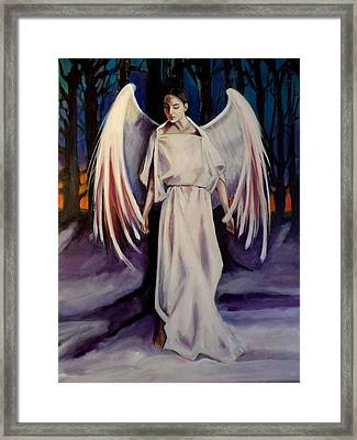 Framed Print featuring the painting Winter Angel by Irena Mohr