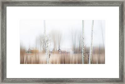 Winter Aquarel. Russia Framed Print