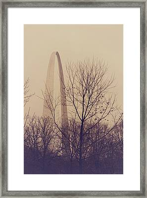 Framed Print featuring the photograph Winter Arch by Heather Green