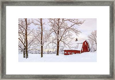 Winter Arrives Framed Print by Edward Fielding