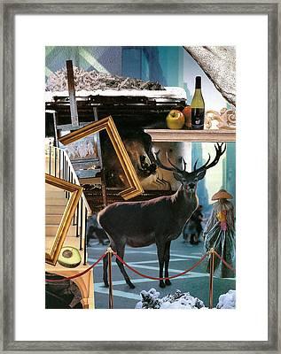 Winter Art Framed Print by Naomi Shalev