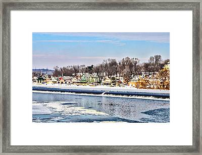 Winter At Boathouse Row In Philadelphia Framed Print by Simon Wolter