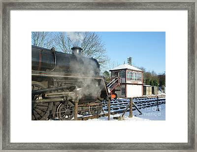 Winter At Butterley Framed Print