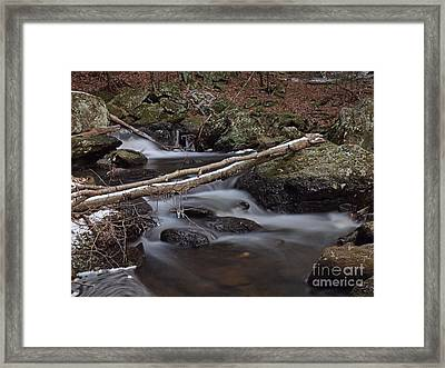 Winter At Buttermilk Falls Framed Print by Frank Piercy