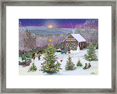 Winter At Campton Farm Framed Print