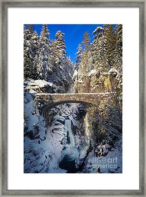 Winter At Christine Falls Framed Print