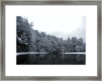 Winter At Clear Creek Framed Print by Anthony Thomas