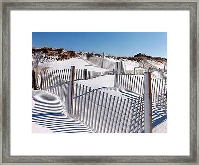 Winter At Cold Storage Beach Framed Print by Dianne Cowen