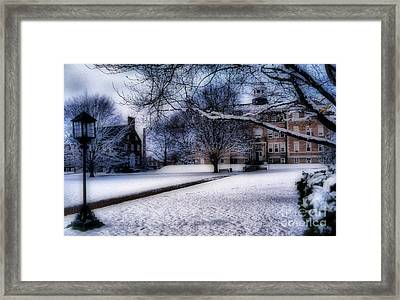 Winter At College Framed Print