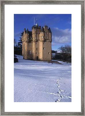 Winter At Craigievar Castle - Aberdeenshire Framed Print
