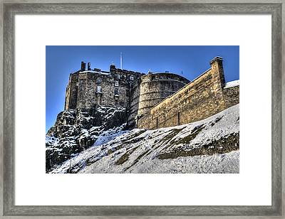 Winter At Edinburgh Castle Framed Print