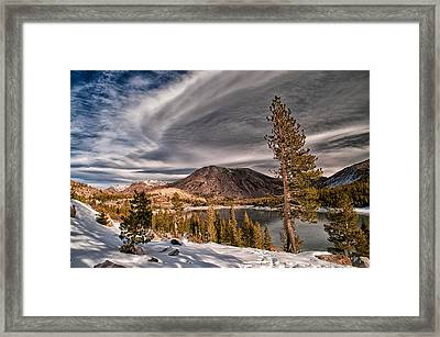 Winter At Ellery Lake Framed Print by Cat Connor