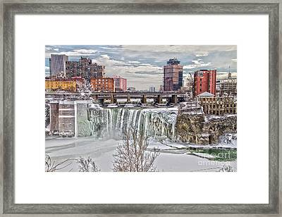 Winter At High Falls Framed Print