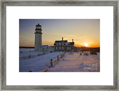 Winter At Highland Lighthouse Framed Print by Amazing Jules