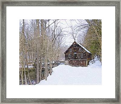 Winter At Kerrs Mill Framed Print by Dave Sandt