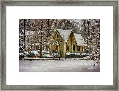 Winter At Lake Afton Framed Print