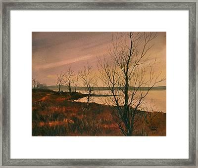 Winter At Lake Wilson Framed Print
