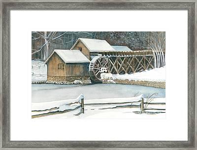 Winter At Mabry Mill Framed Print