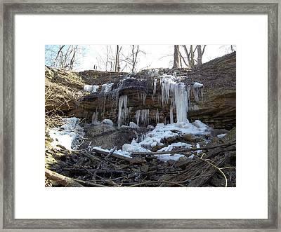 Framed Print featuring the photograph Winter At Martindale Falls by Eric Switzer