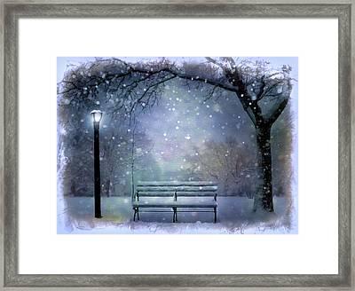 Winter At Mcaren Park Framed Print