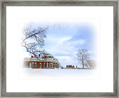Winter At Monticello Framed Print