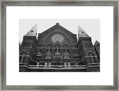 Winter At Music Hall Framed Print