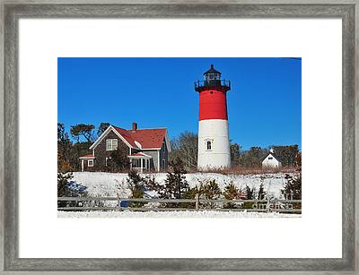 Winter At Nauset Framed Print by Catherine Reusch Daley