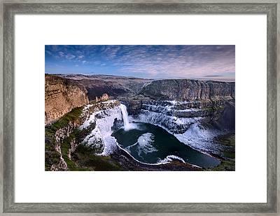 Winter At Palouse Falls Framed Print by Dan Mihai