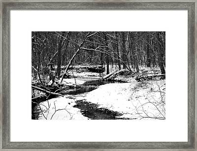 Winter At Pedelo Black And White Framed Print