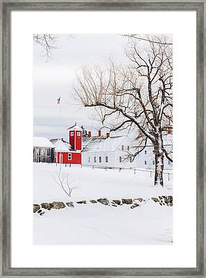 Framed Print featuring the photograph Winter At Shaker Village by Robert Clifford