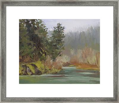 Winter At Swiftwater Framed Print