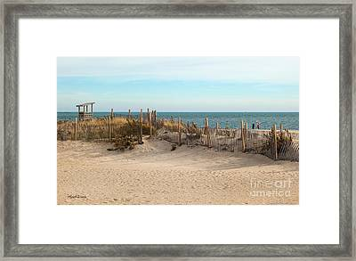 Winter At The Beach Framed Print by Michelle Wiarda