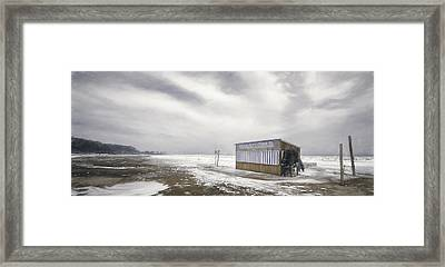 Winter At The Cabana Framed Print by Scott Norris